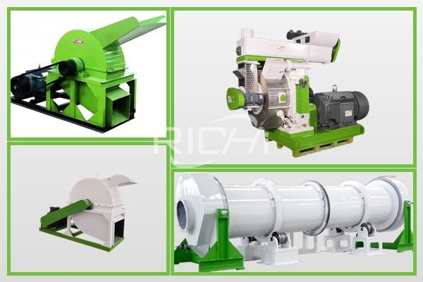 What equipment is needed for wood pellet production line