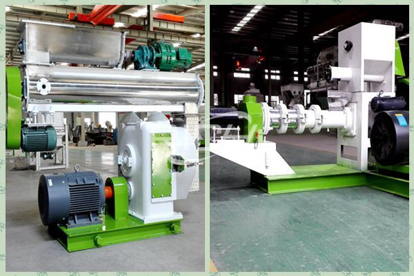 Difference between feed pellet machine and feed extruder
