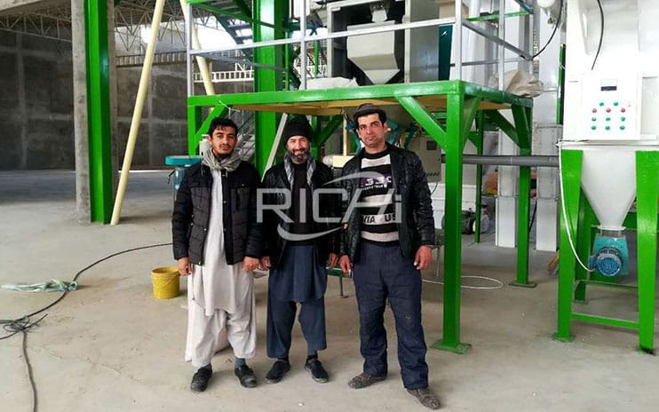 Afghanistan 10-15T/H Poultry Feed Pellet Line