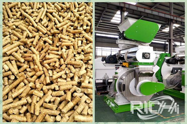 What causes the wood pellet machine inner wall to stick the material problem?
