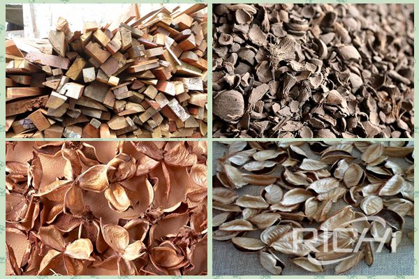 What are the raw materials that can be pressed by the wood pellet machine?