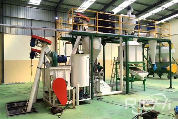 1-2Ton/Hour feed pellet production line case