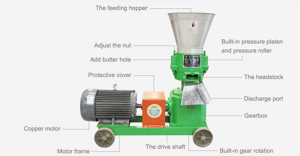 Electric Flat Die Pellet Mill for Ruminant Cattle Sheep at Factory Direct Prices