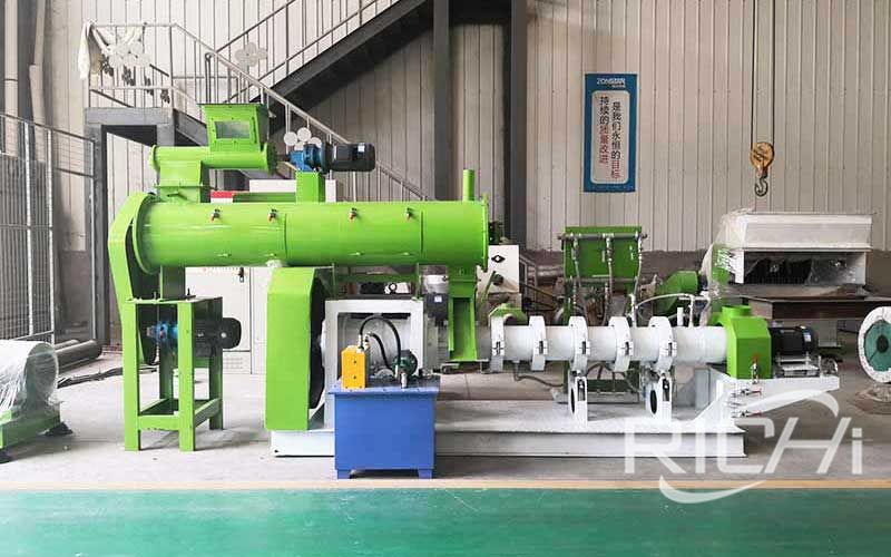 Twin Screw Floating Fish Feed Extruder