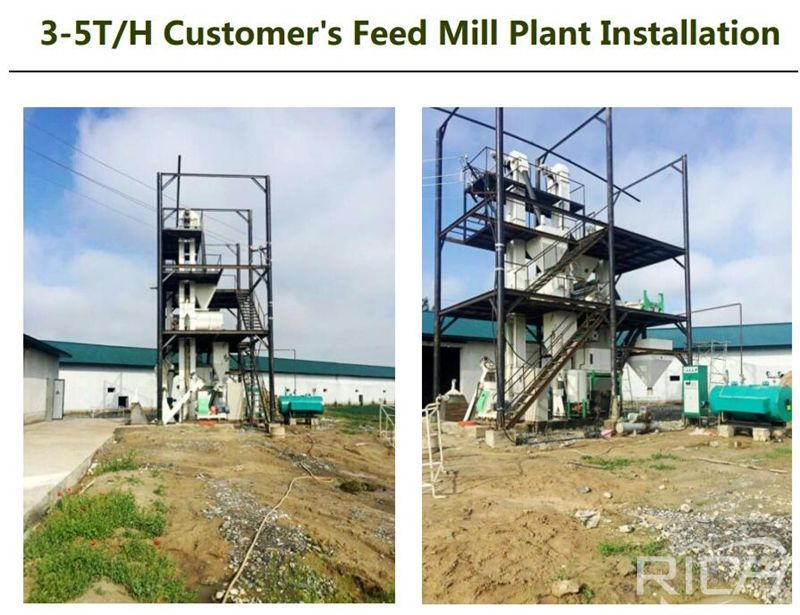 Uzbekistan 4tph chicken feed pellet production line Construction Site