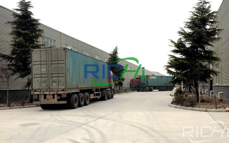 Delivery of pellet production line equipment