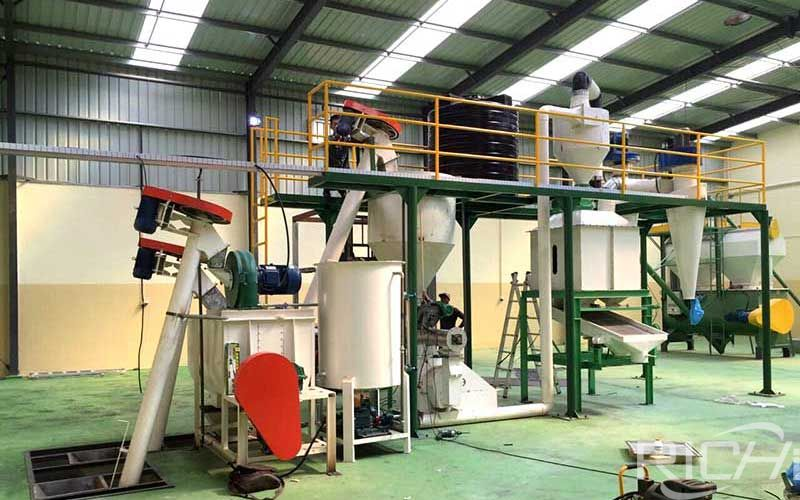 Production Process Of Cattle Feed Pellets