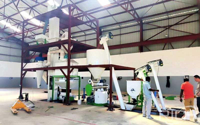 1-2 Tons/hour Small-scale Chicken Feed Pellet Production Line Turnkey Project