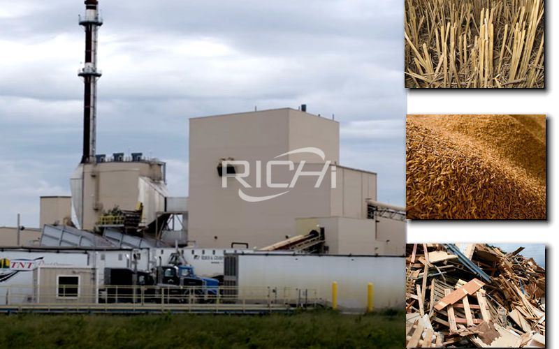 100 Tons/day Straw Rice Husk Wood Pellet Production Line Project