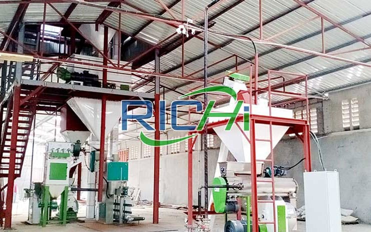 Uzbekistan 3-5 Tons/hour Chicken Feed Pellet Processing Production Line Project
