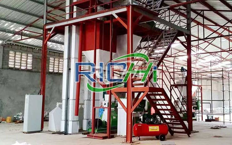 Uzbekistan 3-5 T/H Powder Production Line & 1 T/H Cattle Sheep Grass Pellet Line