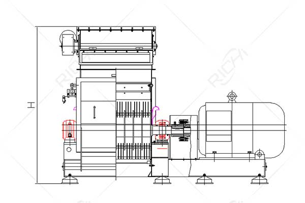 SFSP Water Drop Wood Hammer Mill1